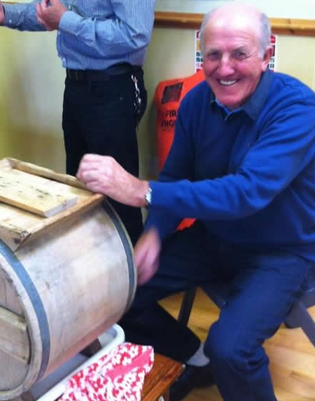 Churning butter at The Benwiskin Centre